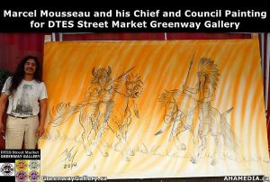 Marcel Mousseau, Artist for DTES Street Market Greenway Gallery 1
